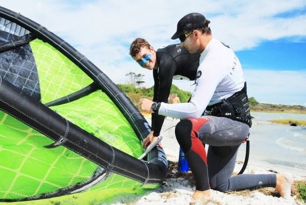 kitesurfing lessons with personal instructor